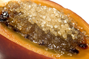 tropical fruit tamarillo with sugar