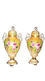 urns from porcelain. poster