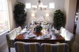 unique dining table arrangement poster
