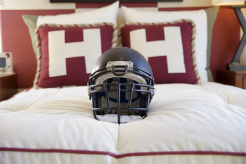 bedroom interior design for football fan
