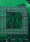 cpu - electronic circuit  background, poster
