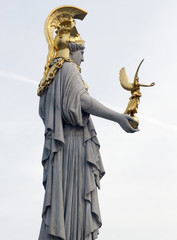 athena statue looking over vienna