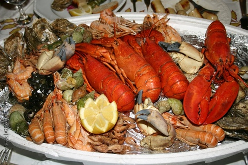 fruits de mer - frutos de mar -  langosta