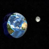 earth day & night-atlantic poster