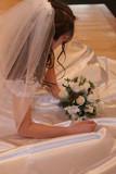 sexy modern bride veil dress gown flower white gla poster