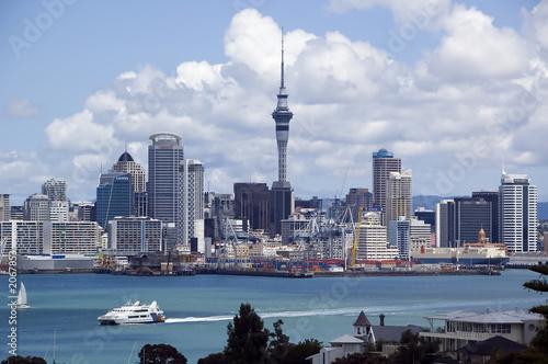 Canvas Nieuw Zeeland auckland skyline