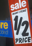 half price poster