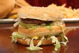 big burger w/fries & cheeseburgers poster