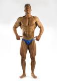 cliche bodybuilding pose poster