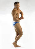 bodybuilder flexing poster