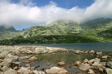 glacial lake landscape