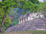 ancient temple in palenque, mexico