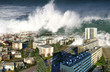 Leinwandbild Motiv raz de marée sur la ville