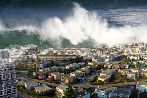 raz de marée sur la ville - 2073696