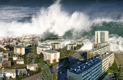 raz de marée sur la ville - 2073698