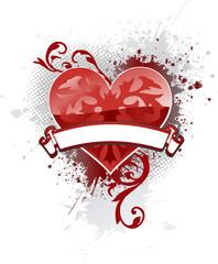 banner heart
