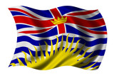british columbia flag poster