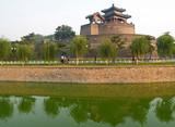 congtai park in historical city hondan, china poster