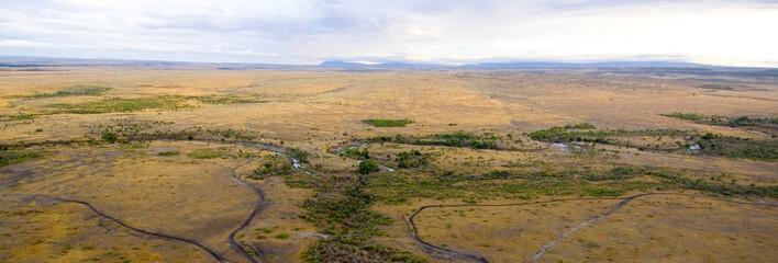 photographie aérienne de masai mara