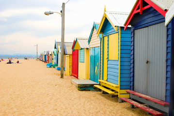 beach boxes on brighton beach