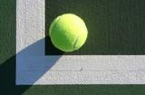 tennis ball corner poster