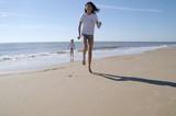 jogging sur la plage poster