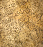 a fragment of ancient map - india poster