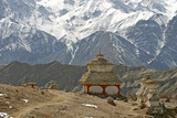 stupa in the himalayas (buddhistic symbol) poster