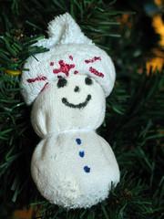 sock puppet christmas ornament