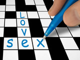 crossword - love and sex poster