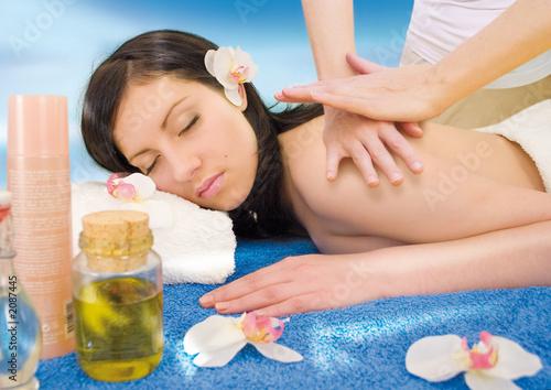 Fototapeten,frau,massage,wellness,schönheit