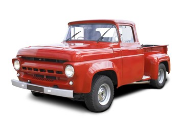 old red v8 pickup