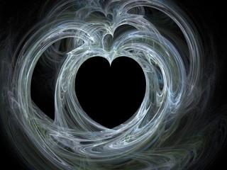 large single blue heart