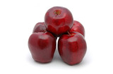 five red delicious apples poster