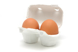 two eggs in carton poster