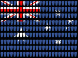 pint glass australian flag