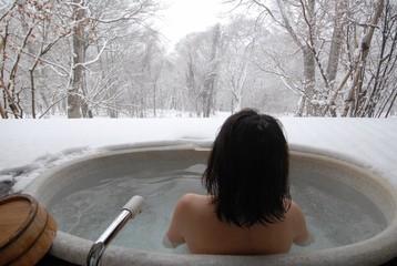 open air hot bath