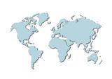 weltkarte - map of world poster