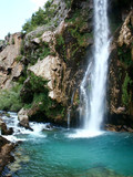 beautiful waterfall in croatia no.3 poster