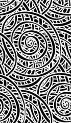 abstract swirly seamless pattern