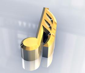 simbolo nota da 1/32 in oro