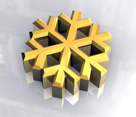 simbolo fiocco di neve in oro