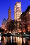 central park and manhattan skyline, new york city-