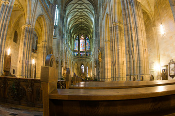 interrior of st. vitus cathedral