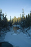 iced over boreas river in new york state