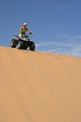 girl on quad
