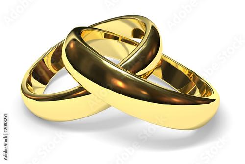 Leinwandbild Motiv wedding rings