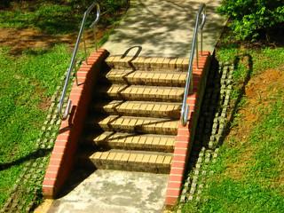 garden stairways and railing