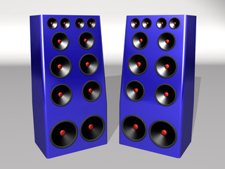 blue mega speakers