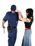 officer disarms a weapon from a suspected criminal